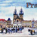 Wooden magnet with a motif of Prague – Free gift for our clients